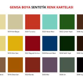 Sentetik Renk Kartelası
